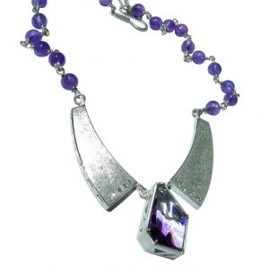 Bespoke Blue Necklace Monica Szwaja
